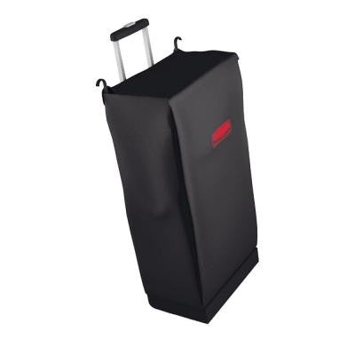 Mobile Black Fabric Cleaning Cart Bag