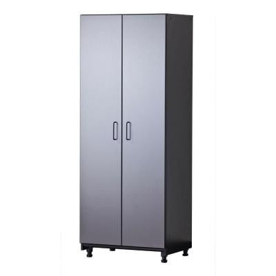 27 in. W x 72 in. H x 20 in. D Freestanding Thermo-Fused Melamine 2-Door Cabinet in Grey