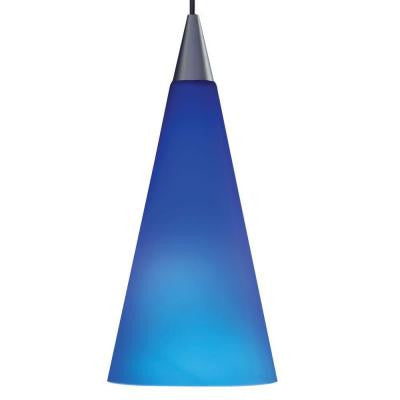 1-Light Cobalt Hanging Mini Pendant