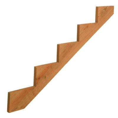 5-Step Pressure-Treated Cedar-Tone Pine Stair Stringer