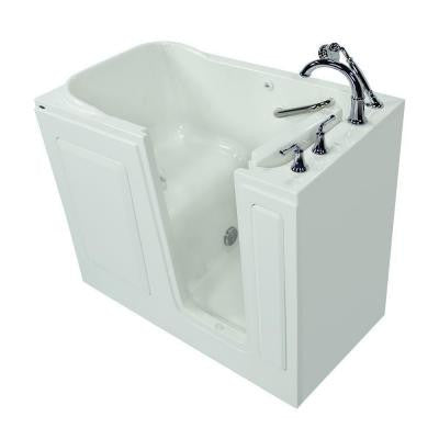 Exclusive Series 48 in. x 28 in. Walk-In Soaking Tub with Quick Drain in White
