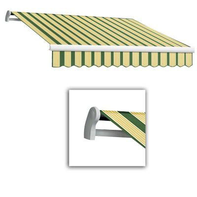 18 ft. LX-Maui Manual Retractable Acrylic Awning (120 in. Projection) in Forest/Tan Multi