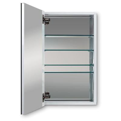 Metro Deluxe 15 in. W X 25 in. H Recessed or Surface Mount Mirrored Medicine Cabinet
