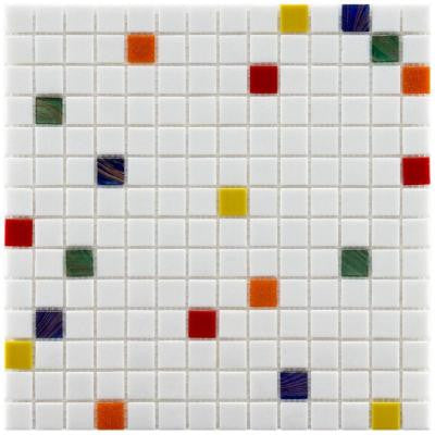 Coppa Happy 12 in. x 12 in. x 4 mm Glass Mosaic Wall Tile