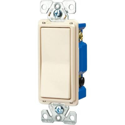 15 Amp 120/277-Volt Standard Grade 4-Way Decorator Switch with Back, Push Wire - Light Almond