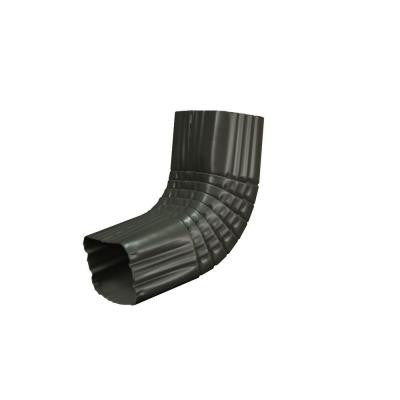 2 in. x 3 in. Tux Gray Aluminum Downspout A Elbow
