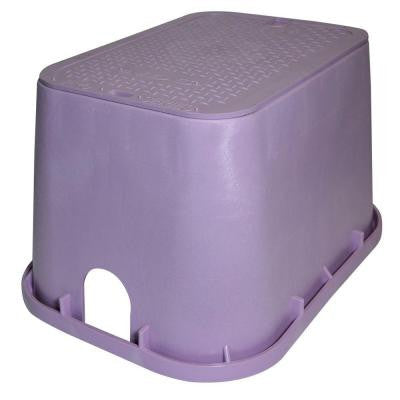 Pro Series 14 in. x 19 in. Valve Box and Cover - Reclaimed Water