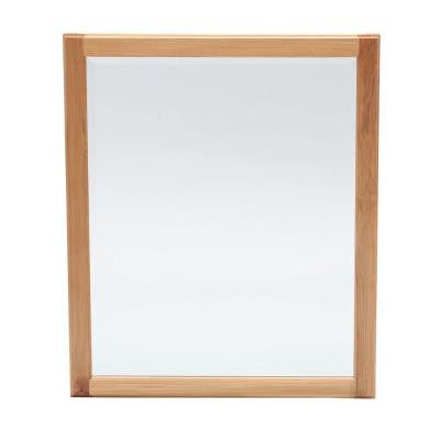 Hampton 34 in. L x 28 in. W Framed Wall Mirror in Natural Hickory