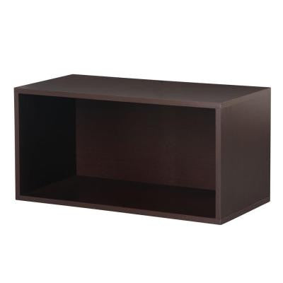 30 in. Espresso Large Open Cube