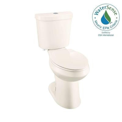 2-piece 1.1 GPF/1.6 GPF Elongated Dual Flush High Efficiency Toilet in Bone