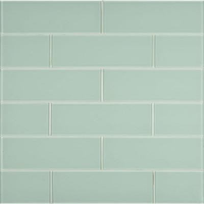 Ice 4 in. x 12 in. Glass Wall Tile (2 sq. ft. / case)