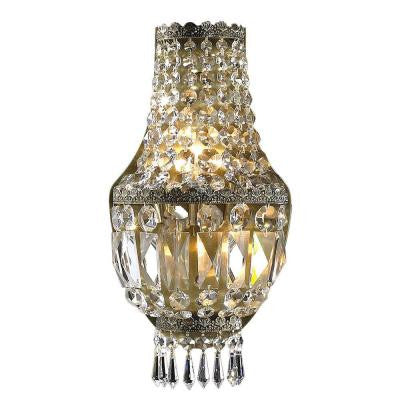 Metropolitan Collection 3-Light Antique Bronze Sconce with Clear Crystal
