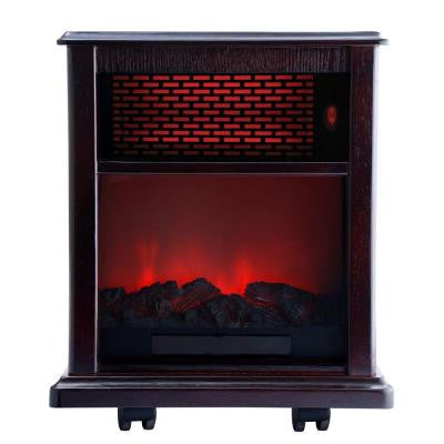 Fireplace 1500-Watt Infrared Electric Portable Heater solid wood construction - Espresso