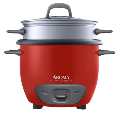 6-Cup Rice Cooker in Red