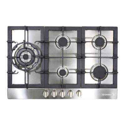 34 in. Gas Cooktop in Stainless Steel with 5 Sealed Brass Burners including 16000-BTU Jet Nozzle Burner