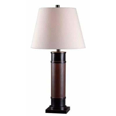 Collar 30 in. H Oil-Rubbed Bronze Table Lamp