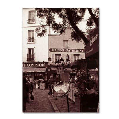 47 in. x 35 in. Maison Catherine, Montmartre Canvas Art