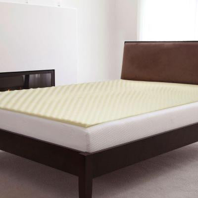 Natural Pedic Twin-XL Size 1 in. Memory Foam Mattress Topper