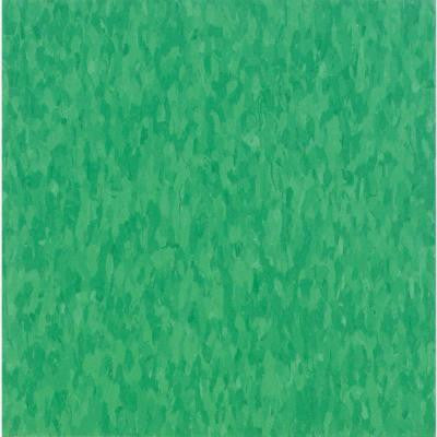 Imperial Texture VCT Grabbin Green Commercial Vinyl Tile - 6 in. x 6 in. Take Home Sample