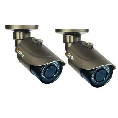 Platinum Series Indoor/Outdoor 1080p IP Bullet Security Cameras with 100 ft. Night Vision (2-Pack), Power Over Ethernet