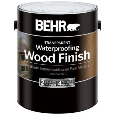 1-gal. #400 Natural Transparent Waterproofing Wood Finish