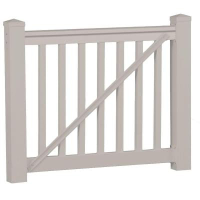 Vanderbilt 42 in. x 60 in. Vinyl Tan Gate Rail Kit