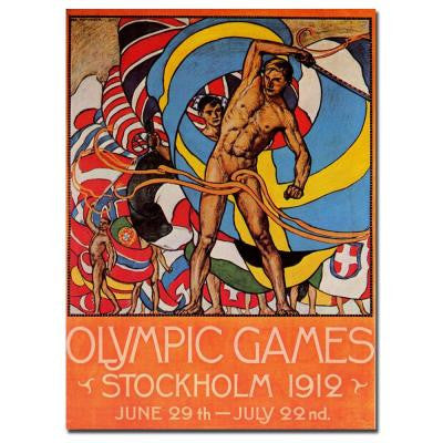 18 in. x 24 in. Olympic Games Stockholm 1912 Canvas Art