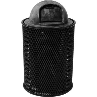 32 Gal. Black Park Trash Can with Dome Lid