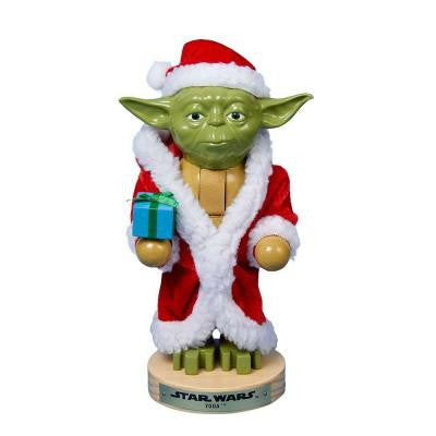 9 in. Yoda in Santa Robe Nutcracker