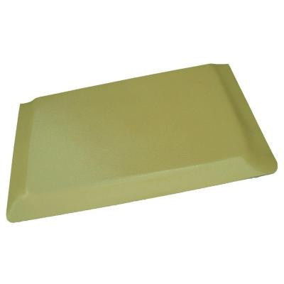 Hide Pebble Brushed Tan Surface 24 in. x 96 in. Vinyl Kitchen Mat