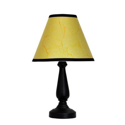 14.75 in. Black Basic Table Lamp with Parchment Look Shade