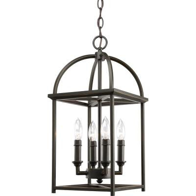 Piedmont Collection 4-Light Antique Bronze Foyer Pendant