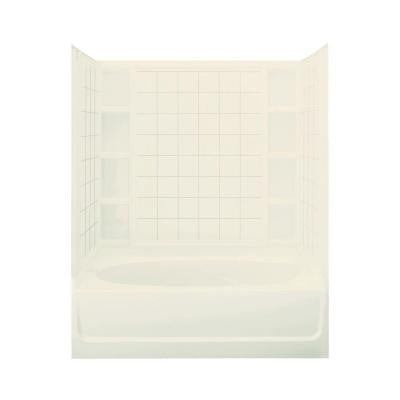 Ensemble 60 in. x 42 in. x 72 in. Standard Fit Bath and Shower Kit in Biscuit