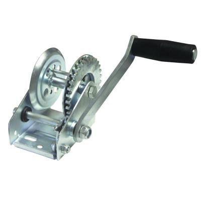 600 lb. Zinc-Plated Trailer Winch with Solid Gears