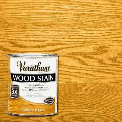1-qt. 3X Honey Maple Premium Wood Stain (Case of 2)