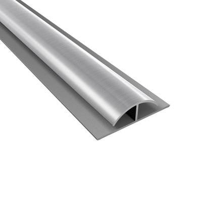 4 ft. Large Profile Brushed Aluminum Divider Trim