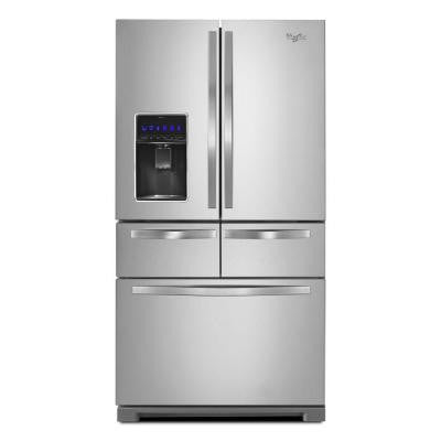 26 cu. ft. Double Drawer French Door Refrigerator in Monochromatic Stainless Steel