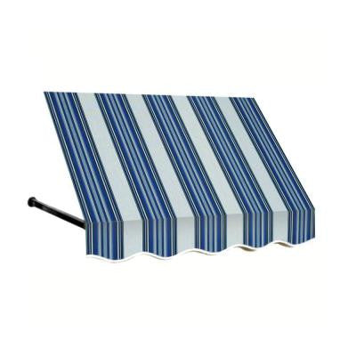 35 ft. Dallas Retro Window/Entry Awning (24 in. H x 42 in. D) in Navy/Gray/White Stripe