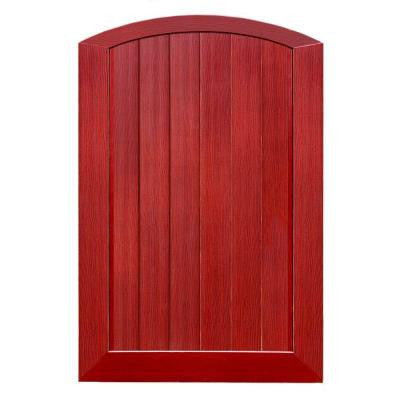 Pro Series 4 ft. x 6 ft. Cherry Vinyl Anaheim Privacy Arched Top Fence Gate