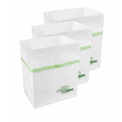 10 gal. White Trash Can and Recycling Bin (3-Pack)