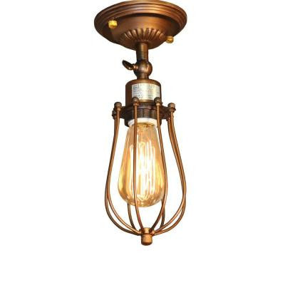 Edison Frances Collection 1-Light Antique Bronze Indoor Wall Lamp