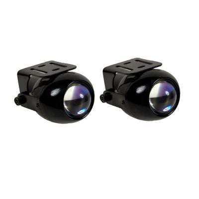 Ultra-White Round Projector Beam Fog Light Kit