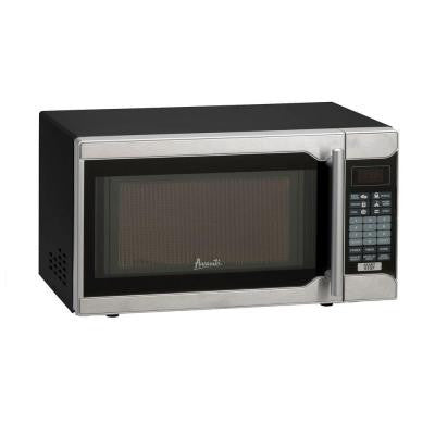 0.7 cu. ft. 700-Watt Countertop Microwave in Black/Stainless Steel