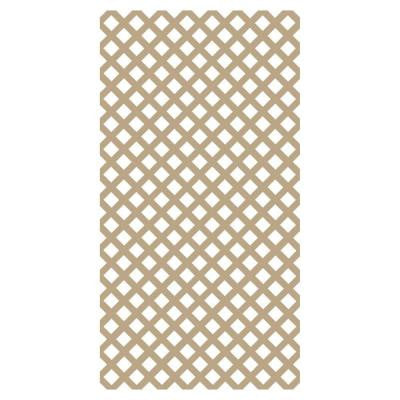 0.2 in. x 4 ft. x 8 ft. Wicker Vinyl Classic Diamond Lattice