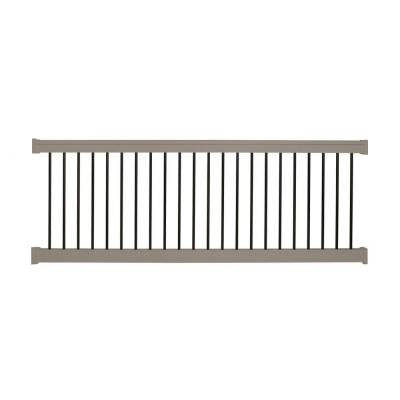 Bellaire 42 in. x 96 in. Vinyl Khaki Straight Rail Kit