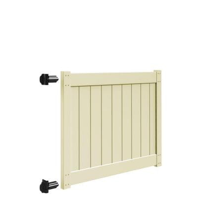 5 ft. x 4 ft. Sand Vinyl Drive Fence Gate Kit for Bryce and Washington Series Fences