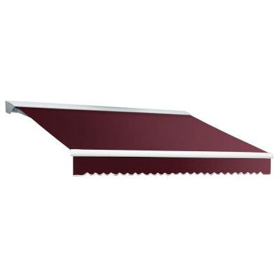 16 ft. DESTIN EX Model Right Motor Retractable with Hood Awning (120 in. Projection) in Burgundy