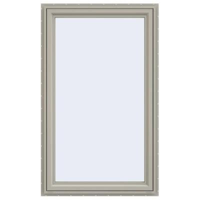 35.5 in. x 59.5 in. V-4500 Series Right-Hand Casement Vinyl Window - Tan