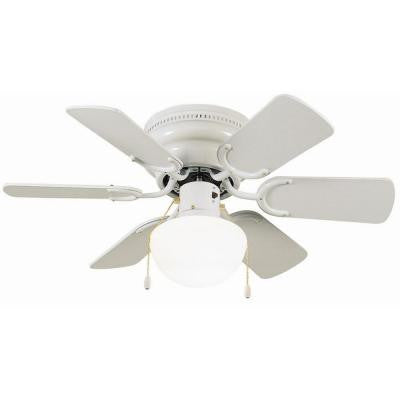 Atrium 30 in. White Ceiling Hugger Fan