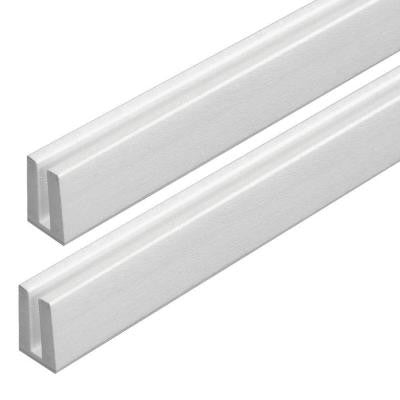 0.75 in. x 1.188 in. x 4 ft. White Vinyl Lattice Cap Moulding (2-Pack)
